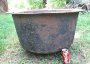 Antique Country Usa Hearth Fireplace Cast Iron Pot Cooking Cauldron Kettle Witch