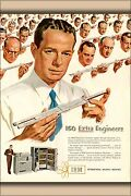 Poster, Many Sizes Ibm 150 Extra Engineers 1951