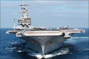 Poster, Many Sizes Aircraft Carrier Uss Ronald Reagan Cvn 76 With Gold Anchor
