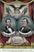 Poster, Many Sizes President Abraham Lincoln Reelection 1864 Election Andrew Jo