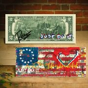 Betsy Ross Flag 1776 Heart Signed Rency Official 2 Bill S/n Of 76 - Just Do It