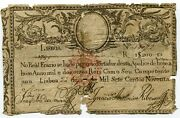 Rare 1797 Original First Banknote Of Portugal Money 20 000 Reis Stamped D Miguel