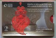 Portugal Official 2016 2 Euro Olympic Team Proof Commemorative Coin In Folder
