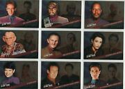Star Trek Deep Space 9 Quotable Complete Starfleets Finest Chase Card Set F1-9