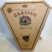 New/incomplete Classic Old Century Wooden Baseball Pinball Style Game Open Box
