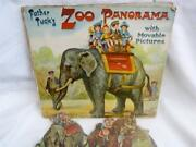 Rare Vintage Father Raphael Tuck Zoo Panorama Movable Pictures Card Toy No8593