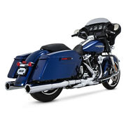 Vance And Hines Power Duals Elbow Chrome, For Harley Davidson Touring Bj.17-19