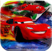 Disney Cars Happy Birthday Party Supplies Lunch Dinner Paper Plates 8pcs Mcqueen