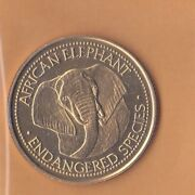World Endangered Species Nbs Special Edition Collectible Coin - African Elephant