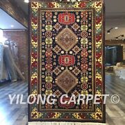 Yilong 3and039x5and039 Classic Antique Handmade Carpets Hand Knotted Silk Area Rugs Y424ab