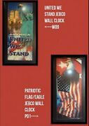 Patriotic Jebco Wall Clocks-united We Stand W09 And Flag/eagle P01