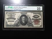 Large Currency Fr320 20.00 1891 Silver Certiticate Pmg Vf 25 See Comments