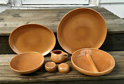 34-pcs Or Less Of Old Iroquois Russel Wright Casual Apricot Pat. Stoneware