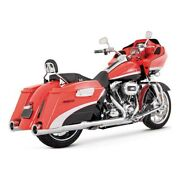Vance And Hines Hi-output Slip-ons Chrome, For Harley - Davidson Touring 95-16