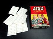 Vintage 1960's Lego System By Samsonite 229/a 6x8 White Base Plates In Box