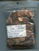 South Africa Collection Of 302 1970 1/2 Cent Uncirculated Bronze Coins Km81