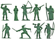 Marx Recast 60mm Robin Hood - 9 In 9 Poses - Unpainted Plastic - Only 1 In Stock