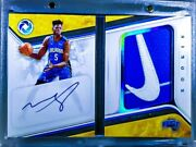 2018-19 Opulence Rookie Patch Nike Swoosh Blue Foil Auto Booklet Mo Bamba