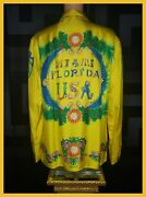 Limited Edition 1993 Archive Sold Out Miami Fl Versace Silk Shirt It 56 - 3xl