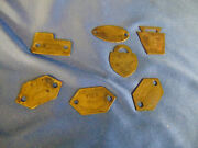 7 Antique Dog Tags Northcumberland Pa 1915 To 1937 Brass Metal Numbered Canine
