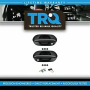 Trq Front Exterior Outside Black Ptm Door Handle With Locks Kit For Odyssey