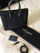 Ysl Classic Sac De Jour Small In Grained Leather Black