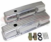 Full Finned Polished Aluminum Tall Valve Covers For Chevy Sb 283 305 327 350 400