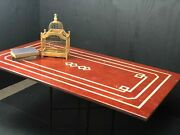 Marble Table Red Coffee Rectangle Designer 59 X 31 1/2 X 3/4andnbsp Andnbsp 1750.00