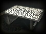 Marble Table Black And White Water Jet Coffee 41 X 30 X 3/4 Andnbsp 2500.00