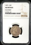 1875 Seated Liberty Twenty Cent Piece Certified Au Details By Ngc