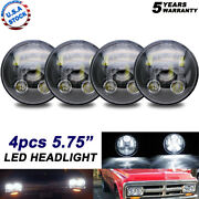 4pcs H5001 H5006 5.75 5-3/4 Inch Led Projector Headlight For Ford Dodge Dart
