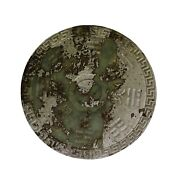 Chinese Stone Ancient Motif Carving Eight Trigrams Round Decor Display Ws312