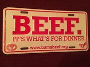 Beef Alabama Cattlemens Metal Tag Plate Metal Sign Cow Farm Truck Tractor 4x4