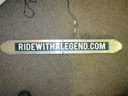 Ride With A Legend Blue Illuminated Plaque / Sign 25 7/8 X 3 Marine Boat