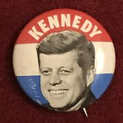 1960 John F. Kennedy Classic Litho Photo Button Andbull Campaign Pin-back 25mm 1andrdquo 2of4