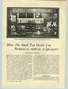 1929 Paper Ad Alexander Grantand039s Sons Toys Store Display Window Lionel Train Sets
