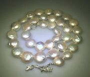Cathy Carmendy Impressive Vintage Japanese Freshwater Coin Pearl Necklace 21