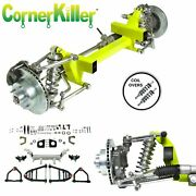 55-59 Chevy Cornerkiller Ifs Coil Over 2 Drp 6x55 Power Lh Rack Narrowed Arms