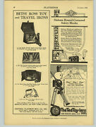 1926 Paper Ad The Ted Toy-lers Soldiers Betsy Ross Toy Travel Iron Sad Irons