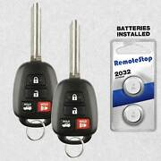 2 For 2014 2015 2016 2017 Toyota Camry Corolla Keyless Remote Key Fob - H Chip