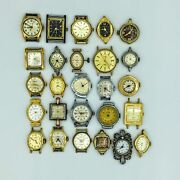 Lot Of 26 Vintage Ladies Quartz And Hand Wind Wrist Watches Juvenia Elbon And Others