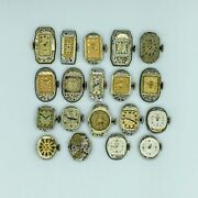 Lot Of 19 Vintage Elgin Ladies Watches And Movements