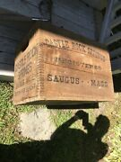 Castle Rock Spring Beverages Wooden Crate Box Wood Saugus Mass Finger Jointed