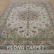 Clearance Yilong 6and039x9and039 Handmade Wool Rugs Hand-knotted Wall Wool Carpets 1484