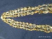 3 Line 14 Aaa Quality Natural Citrine Oval Smooth Plain Beads 5x8 - 10x13 Mm