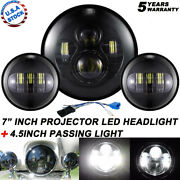 Fit Harley Electra Glide Classic 7 Led Headlight + 4.5 Passing Lights