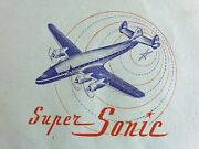 Super Sonic D.b. And M. Airmail Paper Envelopes Air Mail Vintage Luchtpost 1950's