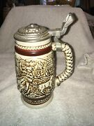 Vintage Avon Collectibles 1980 Western Roping -cattle Drive Lidded Beer Stein