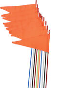Firestik Safety Flags Spring Mount White 7and039 10/pk Sr7-ps-w