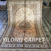 Yilong 5and039x8and039 Pink Handmade Classic Silk Area Rug Warm Hand Knotted Carpet W194c